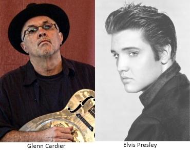Glenn Cardier and Elvis Presley