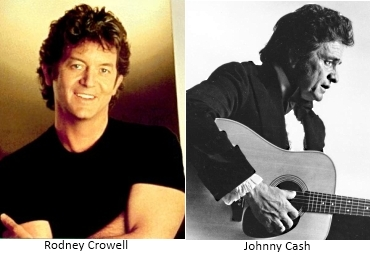Rodney Crowell and Johnny Cash