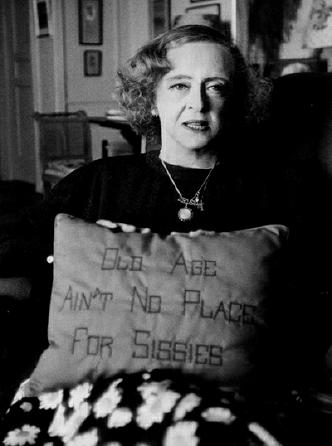 Bette Davis and her Pillow