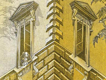 Corner house optical illusion