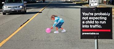 Girl in street