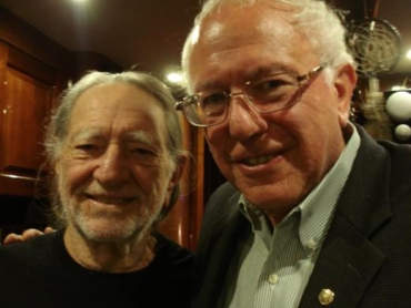 Willie Nelson and Bernie Sanders
