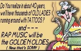 Maxine on Tattoos