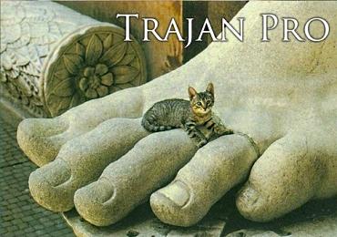 Cat Font Trajan