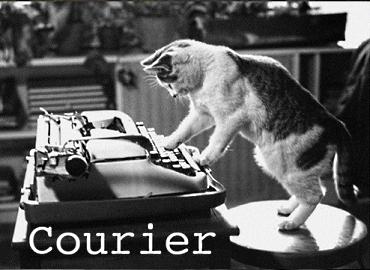 Cat Font Courier