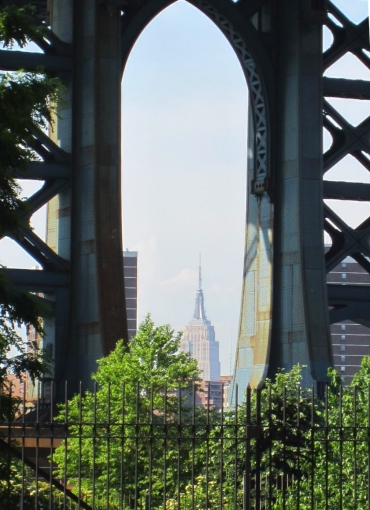 Empire State Bldg thru Manhattan Bridge