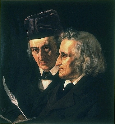The Brothers Grimm painted by Elisabeth Jerichau-Baumann