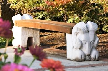 Rams Head Bench by Ken Patecky