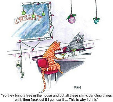 New Yorker cat cartoon Christmas