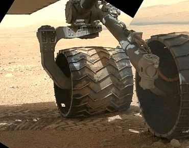 Mars rover tire tracks
