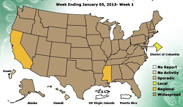 CDC Flu Map