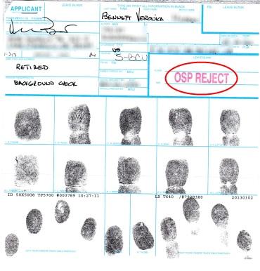 My Fingerprints card