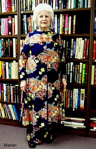 Marian at our fashion show--handmade garments