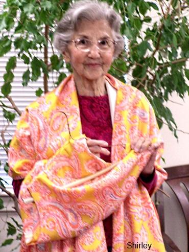 Our lovely Shirley--star pupil modeling her handmade garment