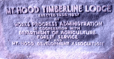 Timberline Plaque