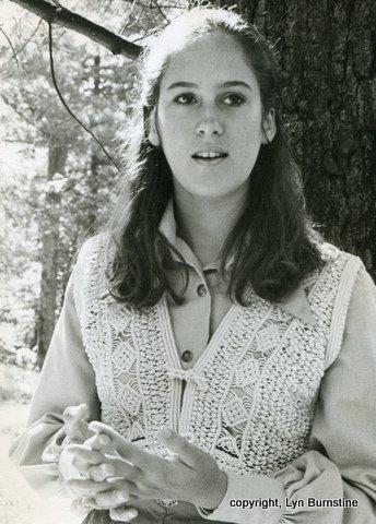Laurel in macrame vest