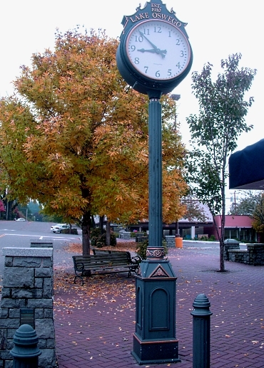 Yellow Tree and Clock