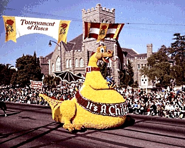 Cal Poly 1966 Rose Parade Float_Puff the Magic DragonVJones