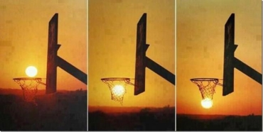 Basketball sunset