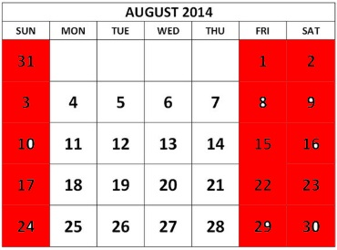 CalendarAugust2014