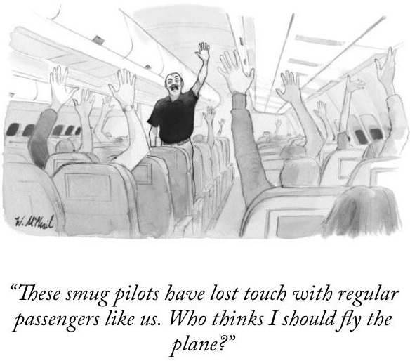 New yorker Plane Cartoon
