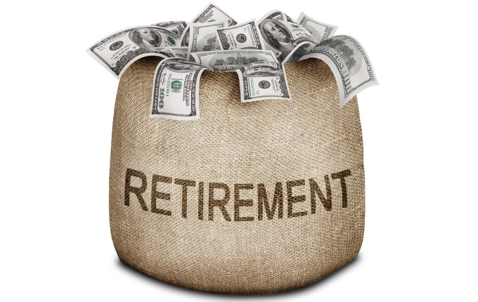 Retirementburlapbag
