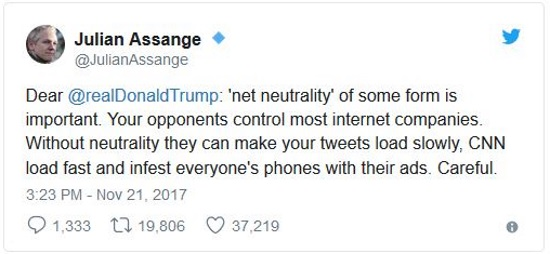 Assange Net Neutrality