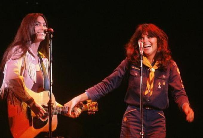 Linda Ronstadt and Emmylou Harris
