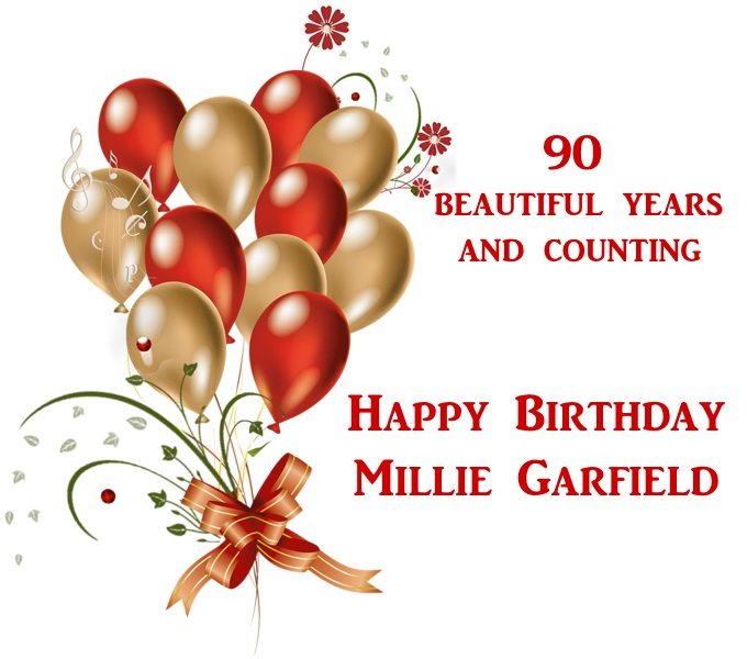 August 2015 time goes by this is a day early it is tomorrow that millie garfield will be 90 years old but since i dont post on tuesdays anymore we can all celebrate with her for bookmarktalkfo Image collections