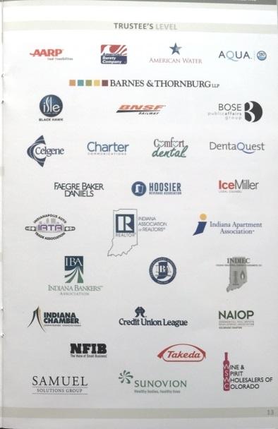 ALEC Indianapolis 2016 sponsors list full