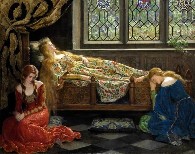 Sleeping-beauty-painting